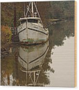Cajun Shrimp Boat Wood Print