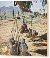 Calabash Gourd Bottles In Mexico Wood Print by Elena Elisseeva