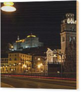 Calahorra Cathedral At Night Wood Print