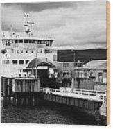 Caledonian Macbrayne Rothesay Ferry At Wemyss Bay Scotland Uk Wood Print