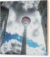 Calgary Tower Hdr Wood Print