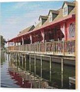 Calhouns On The Lake Wood Print