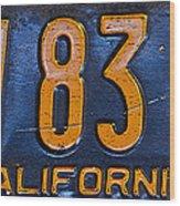 California 1937 Wood Print