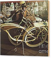 California Beach Bikes And Skateboards Wood Print