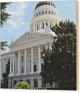 California Capitol Wood Print