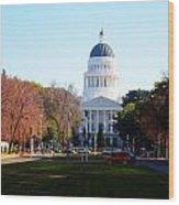 California Capitol Building-3 Wood Print