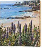 California Coast Flowers Photo Wood Print