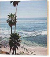 California Coastline Photo Wood Print