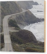 California Highway 1 Or Pacific Coast Wood Print