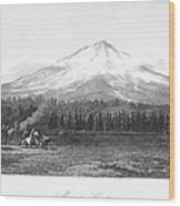 California: Mount Shasta Wood Print