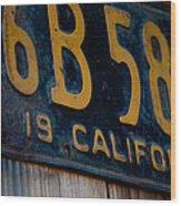 California Plate II Wood Print