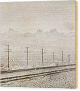 California Railroad Wood Print