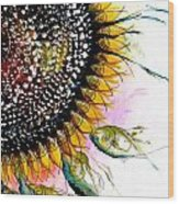 California Sunflower Wood Print