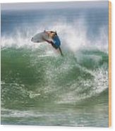California Surfing 1 Wood Print