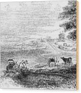 California: Vallejo, 1852 Wood Print