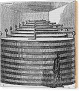 California: Winery, 1864 Wood Print