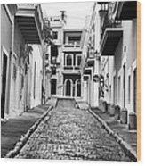Calle De Guijarro Wood Print