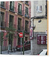 Calle De Vergara Madrid Wood Print
