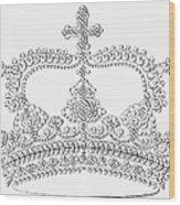 Calligraphy Crown Wood Print