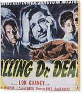 Calling Dr. Death, Patricia Morison, J Wood Print by Everett