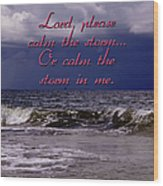 Calm The Storm  Wood Print
