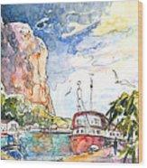 Calpe Harbour 04 Wood Print