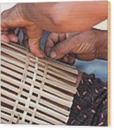 Cambodian Basket Weaver Wood Print