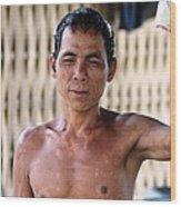 Cambodian Dignity Wood Print