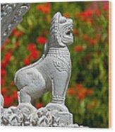 Cambodian Lion Wood Print