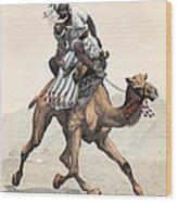 Camel & Rider Wood Print