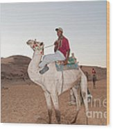 Camel Riders Wood Print