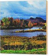 Camelback Mountain Maine Wood Print