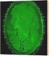 Cameo In Green Wood Print