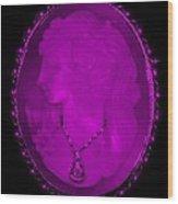 Cameo In Purple Wood Print