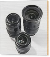 Camera Lenses Wood Print by Johnny Greig