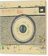 Cameras Retro Wood Print
