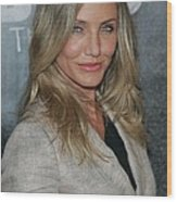 Cameron Diaz At A Public Appearance Wood Print by Everett