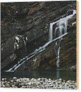 Cameron Falls Waterton Lakes National Park Wood Print