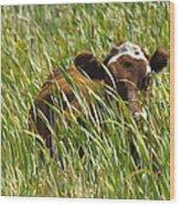 Camo Cow Wood Print