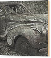 Camouflage Classic Car Wood Print
