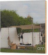 Camp At Goliad Wood Print