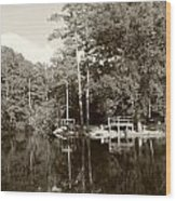 Camp Lake Wood Print