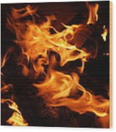Campfire 3 Wood Print