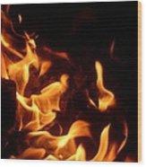 Campfire 4 Wood Print