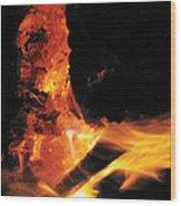 Campfire Apparition  Wood Print