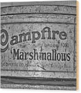 Campfire Marshmallows Wood Print