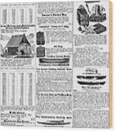 Camping Equipment, 1895 Wood Print