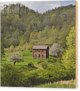 Canaan Valley West Virginia Cabin Wood Print