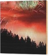 Canada Competing In The Celebration Of Light Fireworks 2011 Wood Print by Pierre Leclerc Photography