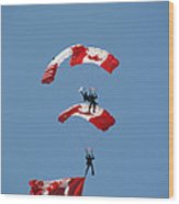 Canada Day Flight Wood Print